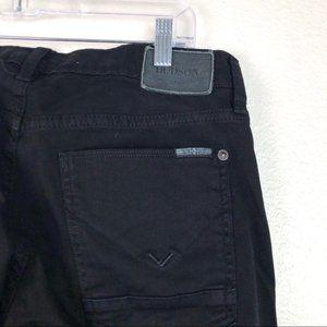 Hudson 'Byron' five pocket straight black jeans 31